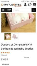 Doudou et Compagnie Baby Rabbit Booties