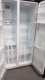 Black American style fridge freezer with drinks dispenser