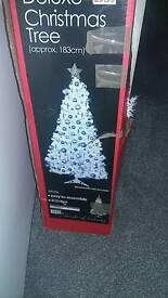 Christmas tree. White.