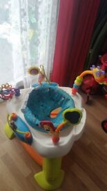 Fisher Price Walker, Bright Starts baby activity jumperoo and Bright Starts activity table