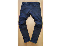 "MENS G-STAR RAW SIGNATURE BRANDED 5620 3D SUPER SLIM DESIGNER DENIM JEANS 34""W-32""L"
