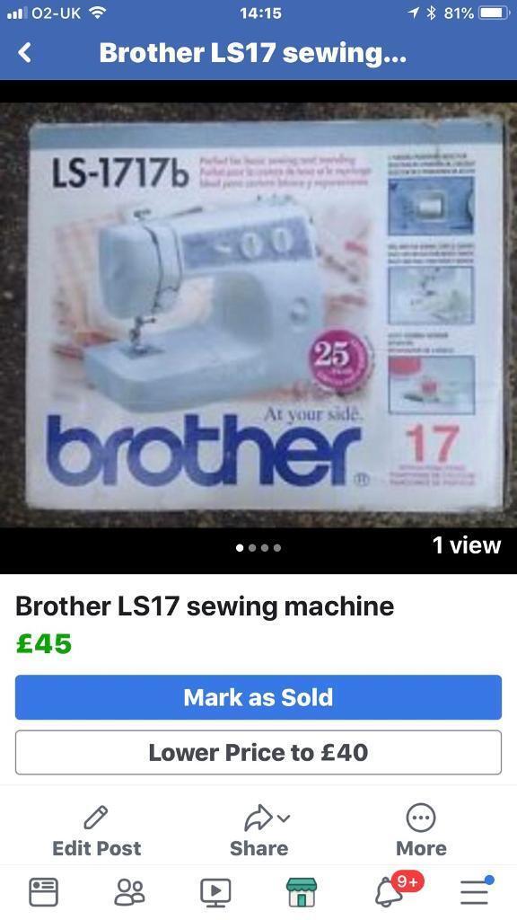 Brother LS40 Sewing Machine In Sea Mills Bristol Gumtree Enchanting Brother Ls17 Sewing Machine Reviews