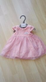 New baby size (up to 10lbs) party dress with matching knickers