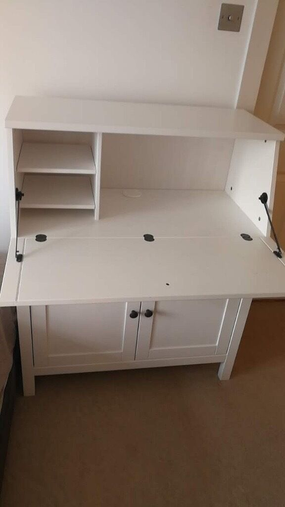 Ikea white Bureau/Desk/Bookshelf