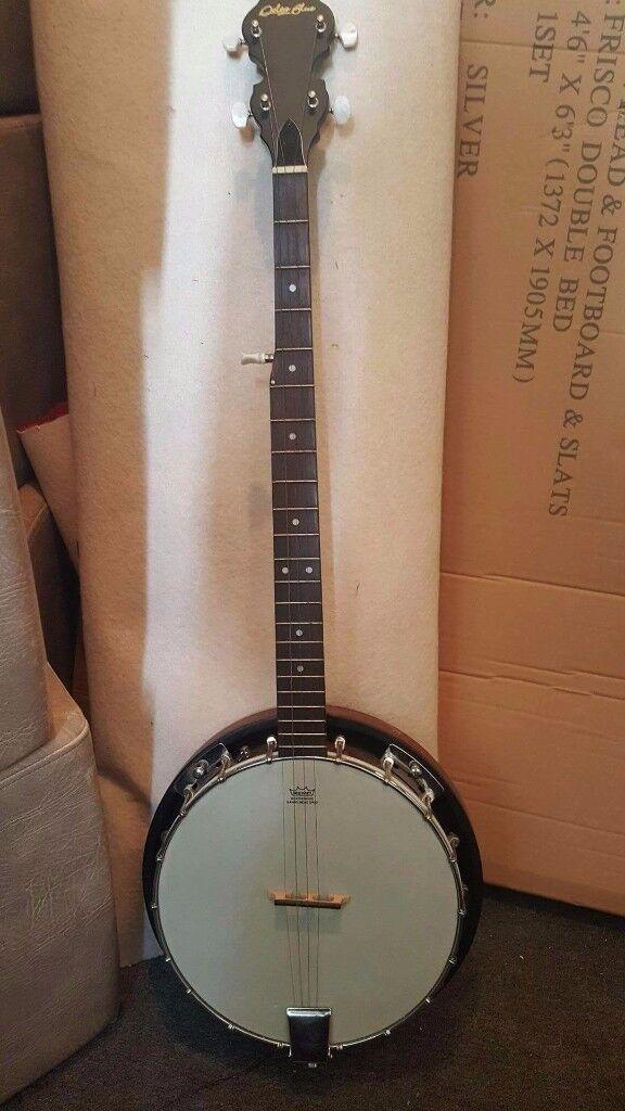 New Delta blue banjo