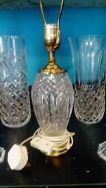 Waterford crystal lamp. + crystal