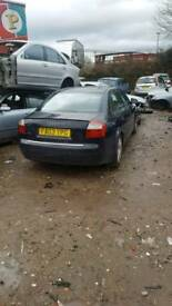 Breaking audi a4 tdi blue saloon 03