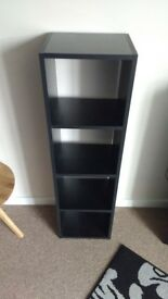 Small standing black square book case