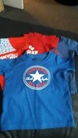 4Toddler converse t shirts £10-00 ono
