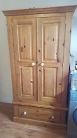 3 x Solid Pine Wardrobes. High quality solid wood furniture in good condition