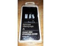 Clear view standing cover for Samsung Galaxy S8+ black new