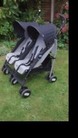 Double chicco stroller