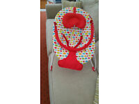 Red Kite Baby Bouncer Musical and Vibrating Excellent Condition