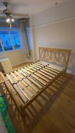 Hardwood king size bed