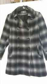 Black & white check ladies coat size 10