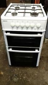 Beko white cooker 50cm gas