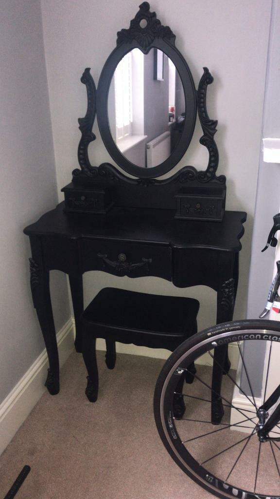 Stool Bedside Table: Dressing Table With Mirror And Stool, Bedside Tables And