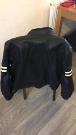 Black Leather Motorbike Jacket Men's size 40