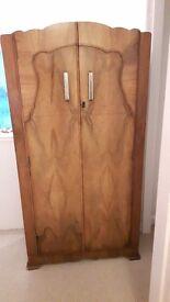 Beautiful little wood/veneer wardrobe