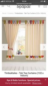 Timbuktales curtains with tie backs