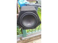 "12"" juce subwoofer and matching amp"