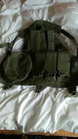 Airsoft olive tactical vest