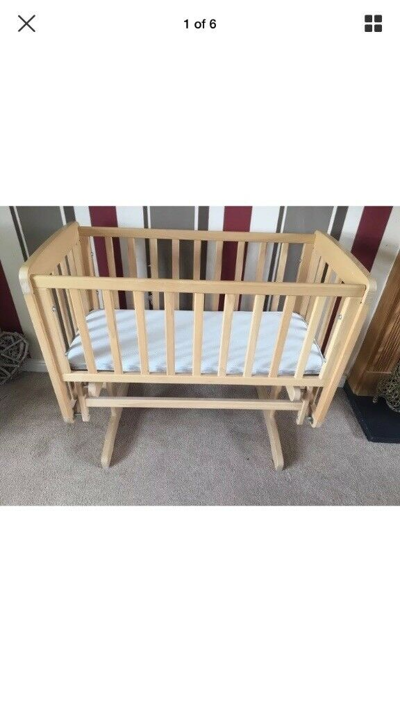 As new Mamas and papas gliding crib cot