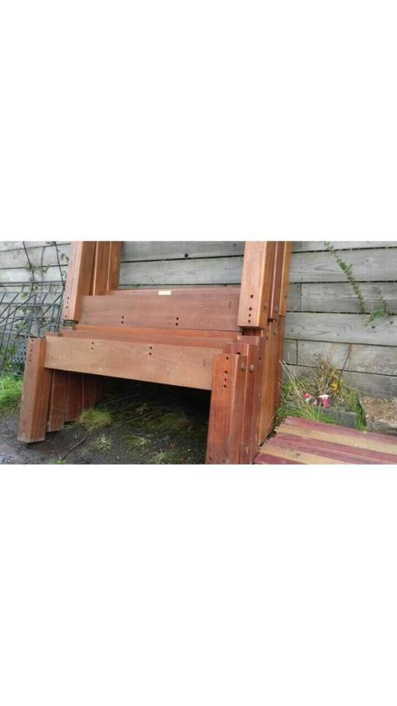 SOLID TIMBER LEGS AND TIMBER BENCH SUPPORTS WOOD WORK