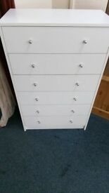 NEW Alban 6 Drawer Chest in either White.