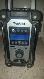 makita DAB radio and drill