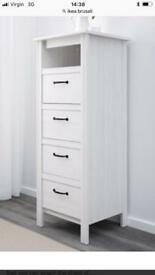 WANTED Ikea brusali Chest Of drawers white