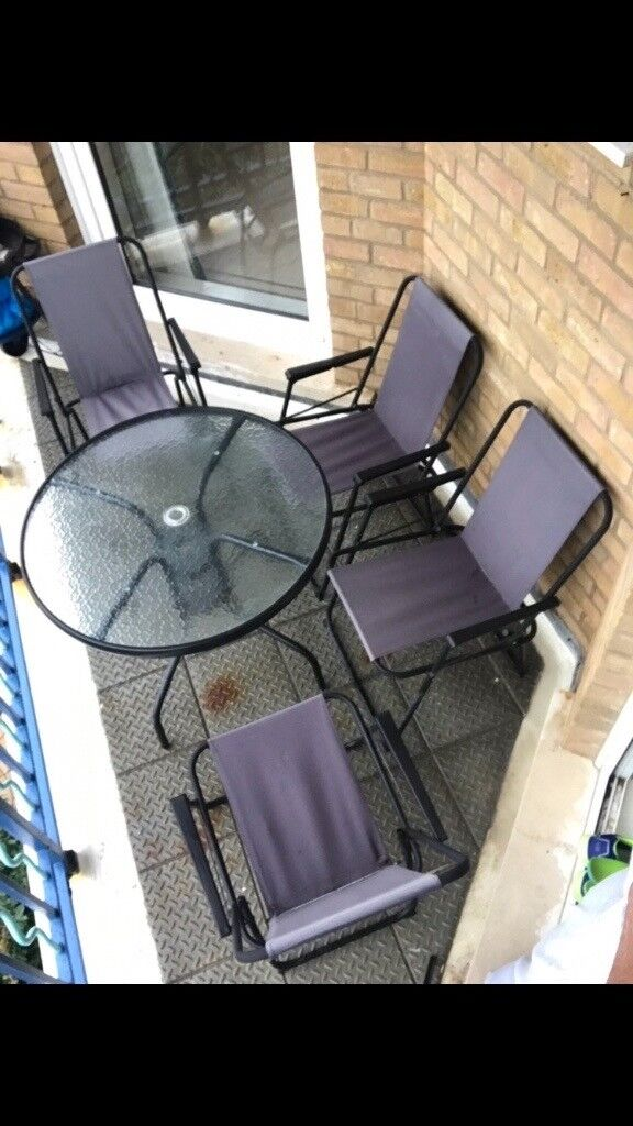 garden chairs with round table - Garden Furniture Kings Lynn
