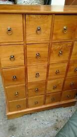 Hardwood drawers