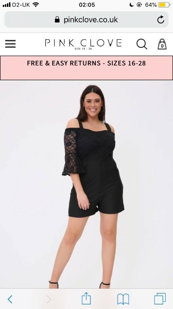 Pink Clove Plus Size Playsuit In Leven Fife Gumtree