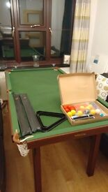Snooker Table 6 x 3. Absolutely perfect. Never used.