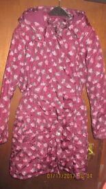 girls winter coat size 11-12 years