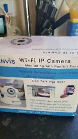 tenvis wifi camera boxed with instructions