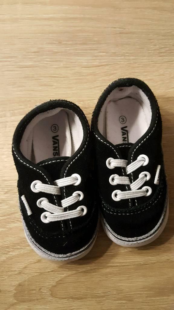 Vans crib shoes size 3