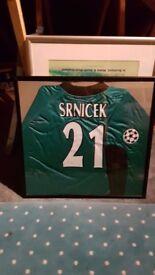 Pavel Srnicek Framed Shirt