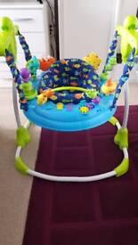 Motherboard Aqua Theme Baby Bouncer