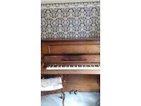 upright piano plus stool