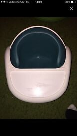 Mamas and papas bumbo style seat with tray