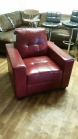 RED LEATHER 1 SEATERS BRAND NEW