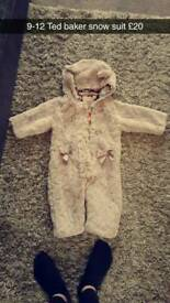 Ted baker snow suit 9-12 months
