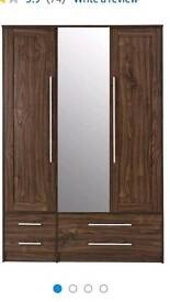 Kendal 3door 4draw mirror robe