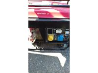 2.3 kva generator runs sweet as a nut easy to start but ommitting no power so spares or repair £40