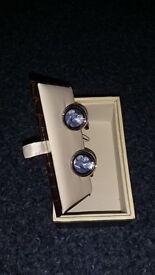 Boxed Gaventa Silver coloured cufflicks