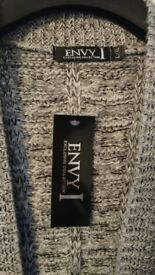 New Womens Envy Knitted Cardigan L/XL