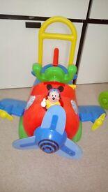 Disney Mikey ride in plane