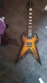 Wylde audio warhammer death claw molasses guitar